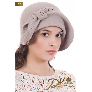 "Фетровая шляпа ""Алла 039"""