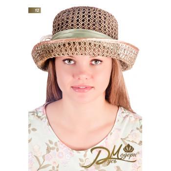 """Соломенная шляпка """"Габриэлла 12"""""""