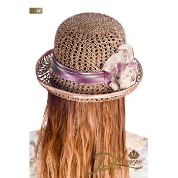 """Соломенная шляпа """"Генриетта 14"""""""