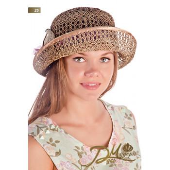 """Соломенная шляпка """"Ангелина 25"""""""