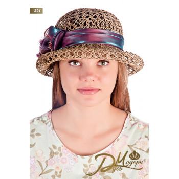 """Соломенная шляпа """"Лина 321"""""""