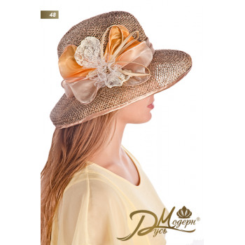 """Соломенная шляпа """"Алика 48"""""""
