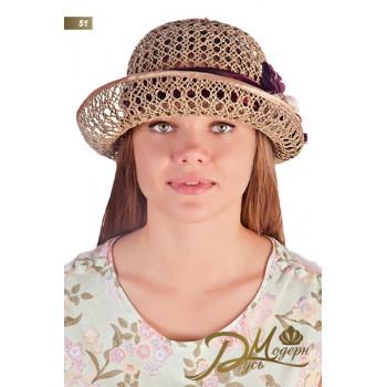 """Соломенная шляпа """"Доля 51"""""""