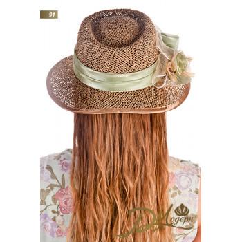 """Соломенная шляпа """"Илена 91"""""""